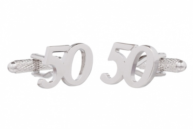 50th Birthday Cufflinks